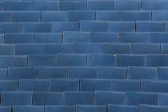 Blue tile roof background. Blue curve tile roof background Stock Photos