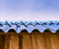 Blue tile roof Stock Photo