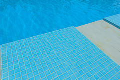 Blue Tile in swimming pool Royalty Free Stock Images