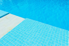 Blue Tile in swimming pool Royalty Free Stock Photos