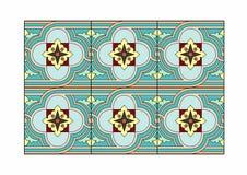 Blue tile. Vector illustration of tile patterns, EPS 10 file Stock Images