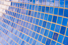 Blue Tile Wall Stock Photography