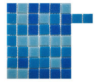 Blue tile wall Stock Image