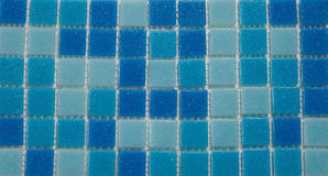 Blue tile wall Royalty Free Stock Photography