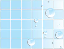 Blue tile water droplet background 3 Stock Photos