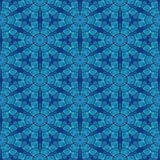 Blue tileable mosaic pattern in art noveau style Stock Photo
