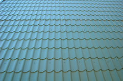 Blue Tileable Roof. Blue-Gray Tileable Roof. Perspective Royalty Free Stock Photo