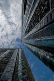 Blue tiled facades of Shahi-Zinda Stock Photos