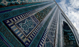 Blue tiled facades of Shahi-Zinda Royalty Free Stock Photo