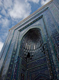 Blue tiled facades of Shahi-Zinda Necropolis, Sama Stock Photography