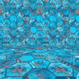 Blue Tiled Room Stock Images