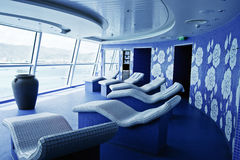 Blue Tiled Spa on a Luxury Cruise Ship Royalty Free Stock Image
