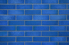 Blue tiled wall Royalty Free Stock Photos