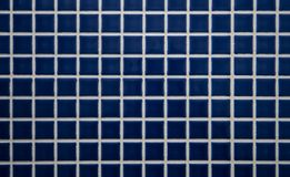 Blue tiled wall Stock Image
