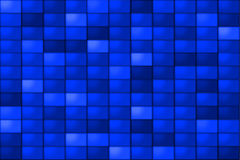 Blue Tiles. A monochromatic background of blue tiles Stock Photo