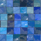 Blue tiles Royalty Free Stock Images