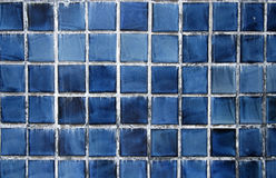 Blue ceramic pool tiles background Stock Image