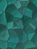 Blue tiles, creating a ceramic pattern.  Stock Images