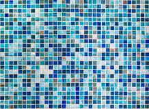 Blue tiles mosaic background. Or wallpaper royalty free stock photo
