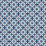 Blue tiles mosaic Stock Photos