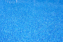 Blue Tiles Pool Water Texture On Summer Day Stock Photo