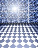 Blue tiles room Royalty Free Stock Images
