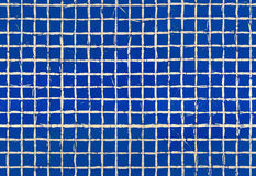 Blue tiles seamless pattern grid cracks Royalty Free Stock Photography