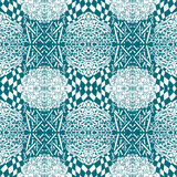 Blue tiles with seamless pattern. Vector illustration. Drawing by hand. Royalty Free Stock Image