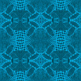 Blue tiles with seamless pattern. Vector illustration. Drawing by hand. Royalty Free Stock Images