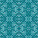 Blue tiles with seamless pattern. Vector illustration. Drawing by hand. Stock Images