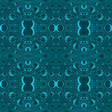 Blue tiles with seamless pattern. Vector illustration. Drawing by hand Stock Image