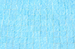 Blue tiles swimming pool water reflection texture Royalty Free Stock Image