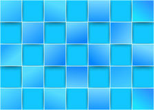 Blue tiles - threedimensional background Royalty Free Stock Images