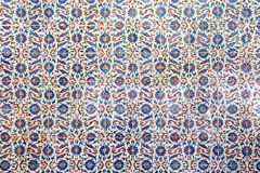 Blue Tiles in Topkapi Palace Stock Image