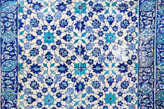 Blue Tiles in Topkapi Palace Royalty Free Stock Images