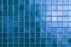 Blue tiles wall texture Stock Photography