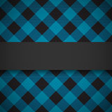 Blue tilted lumberjack plaid pattern Stock Photos