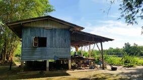 Blue Timber hut Stock Photography