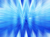 Blue Time warp. Bright Blue abstract warp tunnel Stock Image