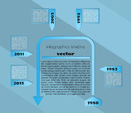 Blue timeline infographic template Royalty Free Stock Photos
