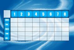 Blue timetable royalty free stock photos