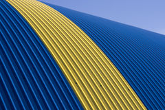 Blue tin roof Stock Photography