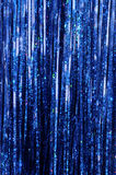 Blue Tinsel. Blue Christmas Tinsel Royalty Free Stock Photo