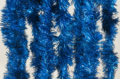 Blue tinsel Stock Image