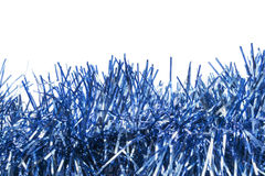 Blue tinsel Stock Photography