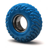 Blue tire Stock Photos