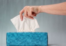 Blue Tissue Box Royalty Free Stock Images