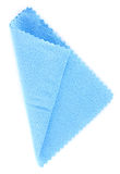 Blue tissue of microfibre Stock Photos