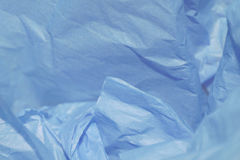 Blue Tissue Paper. Crumpled blue tissue paper for a background or gift wrap for husband, father, boyfriend, son, or brother Stock Photos