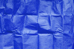 Blue tissue paper texture Royalty Free Stock Images